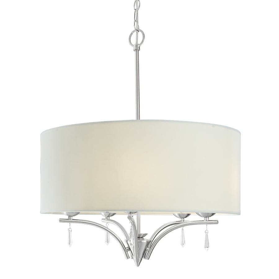Style Selections 23-in Brushed Nickel Single Pendant