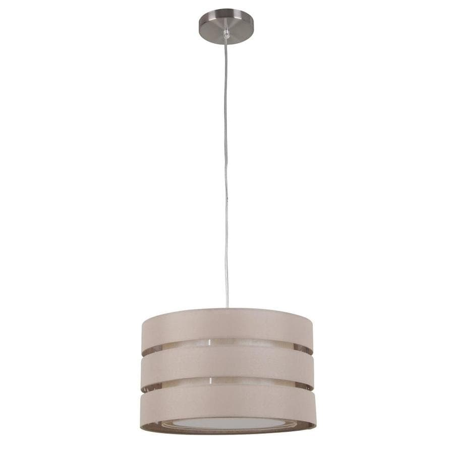 Style Selections 16.8-in Khaki Linen Single Drum Pendant