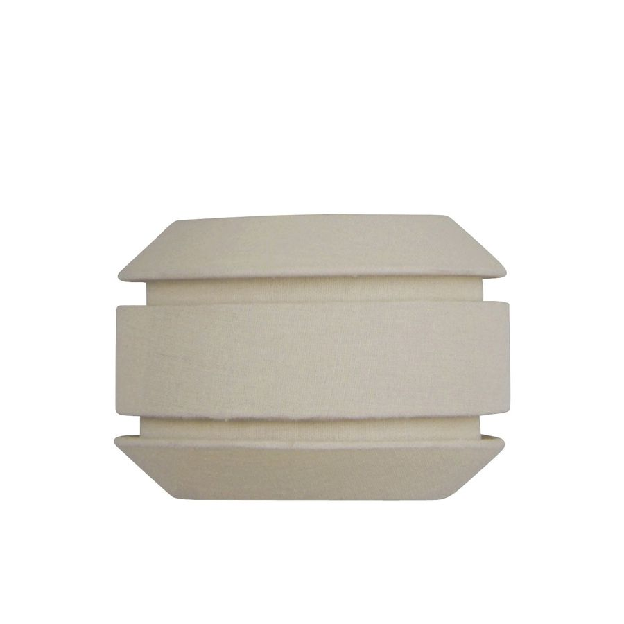 5-in H x 7-in W Beige Fabric Mix and Match Mini Pendant Light Shade