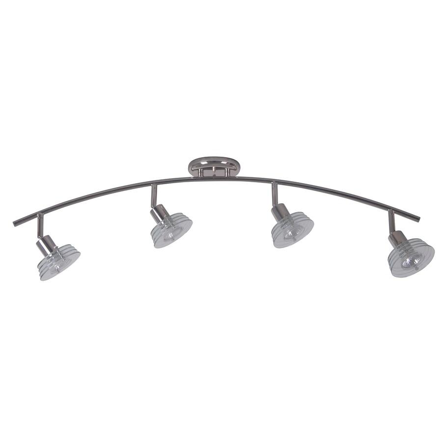 Portfolio 4-Light 35.43-in Polished Nickel Fixed Track Light Kit