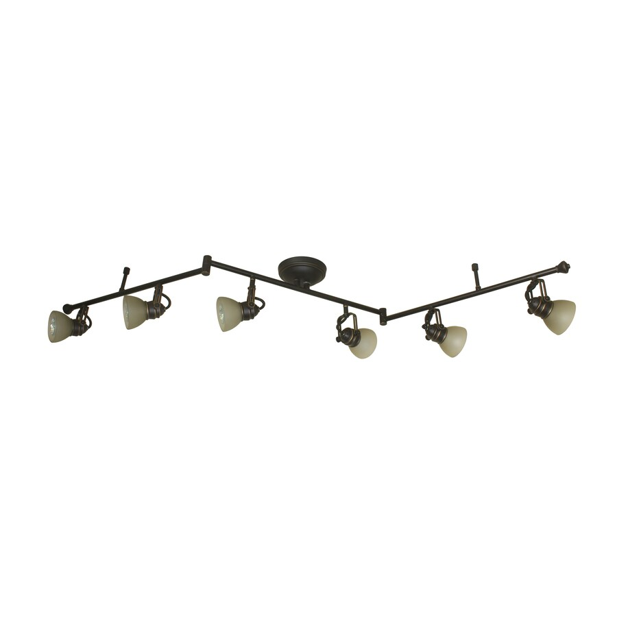 allen + roth Tucana 6-Light 60-in Bronze Dimmable Fixed Track Light Kit