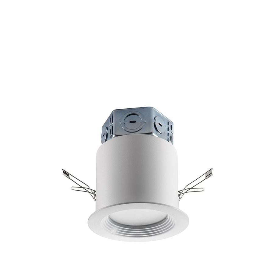 Led Recessed Lighting Kit New Construction : Utilitech pro white led remodel and new construction