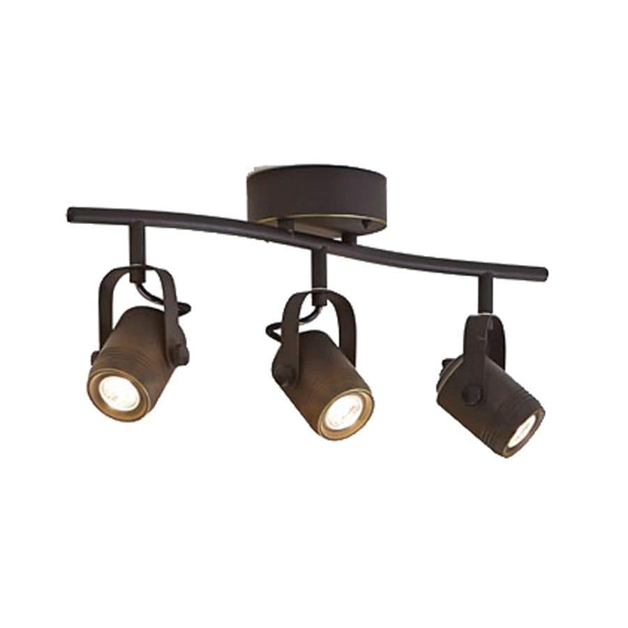 allen + roth Tyslow 3-Light 22.5-in Bronze Dimmable LED Fixed Track Light Kit