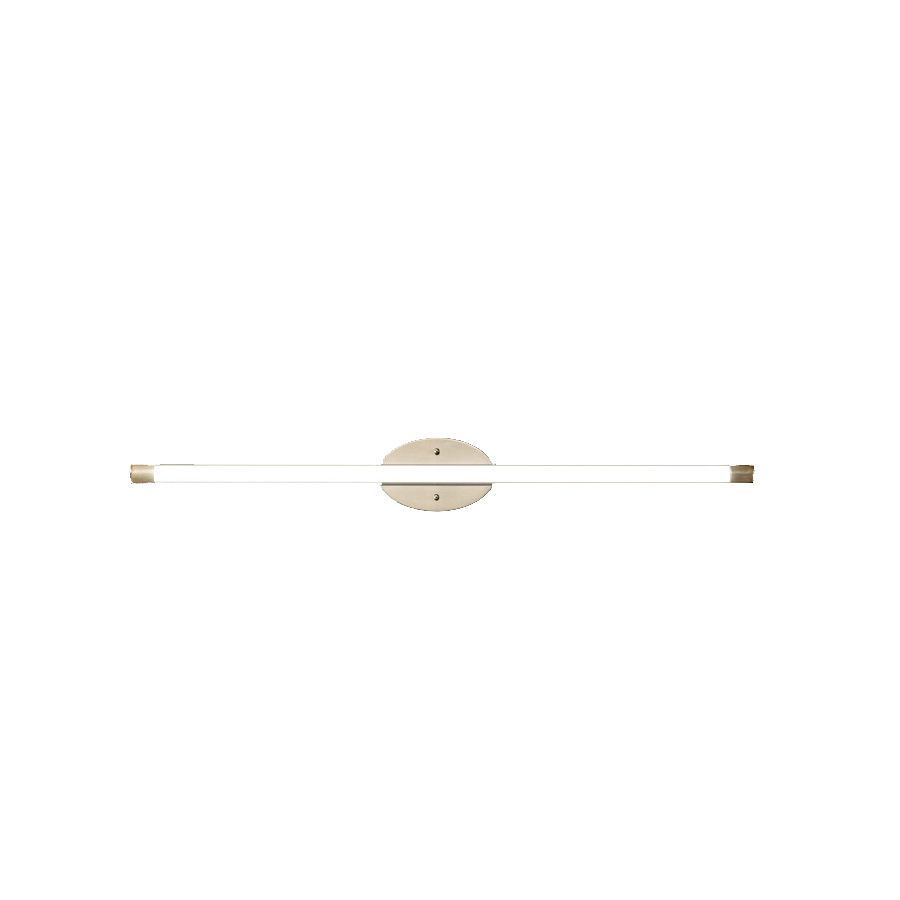 Style Selections Henniker 1-Light 36-in Brushed Nickel Dimmable LED Fixed Track Light Kit