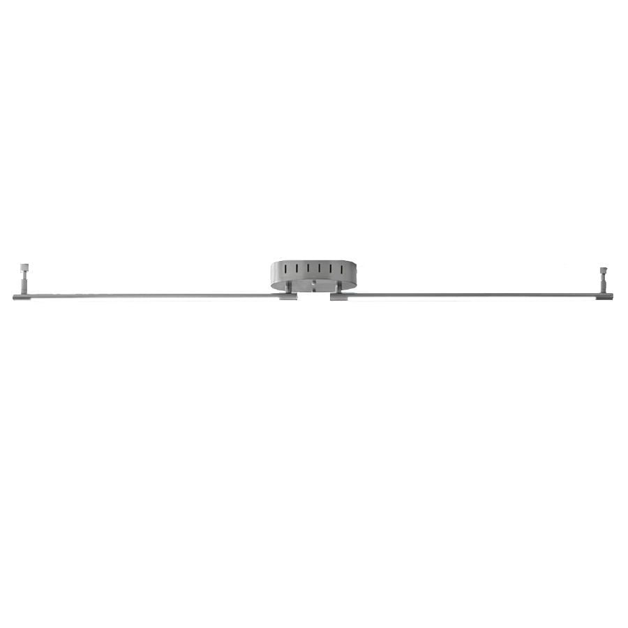 Style Selections Henniker 2-Light 47.64-in Brushed Nickel Dimmable LED Fixed Track Light Kit