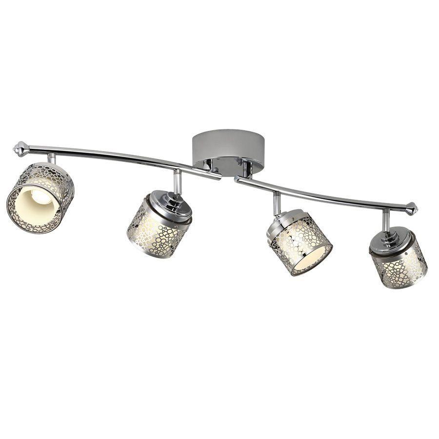 Portfolio Eyerly 4-Light 31-in Chrome Dimmable LED Fixed Track Light Kit