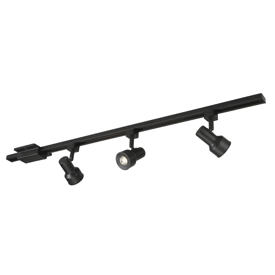 light 42 in matte black dimmable led step linear track lighting kit at