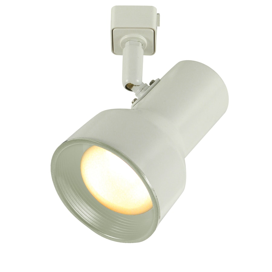 Project Source 1-Light Dimmable Matte White Step Linear Track Lighting Head