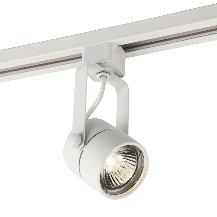 Project Source 1-Light Dimmable Matte White Gimbal Linear Track Lighting Head