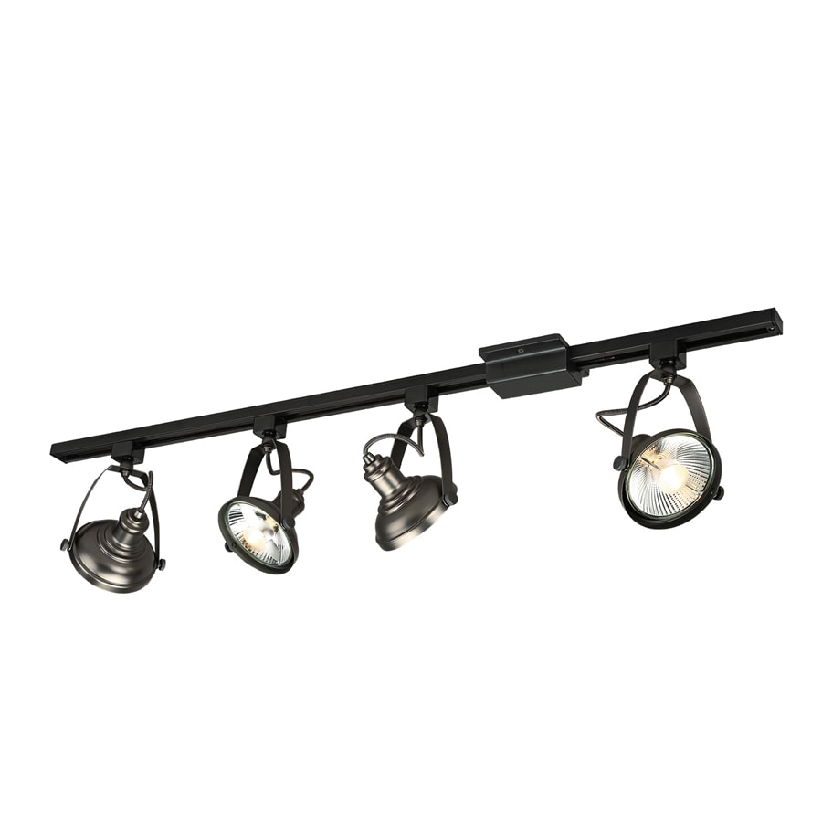 Shop project source 4 light 42 in antique bronze dimmable for Track lighting images
