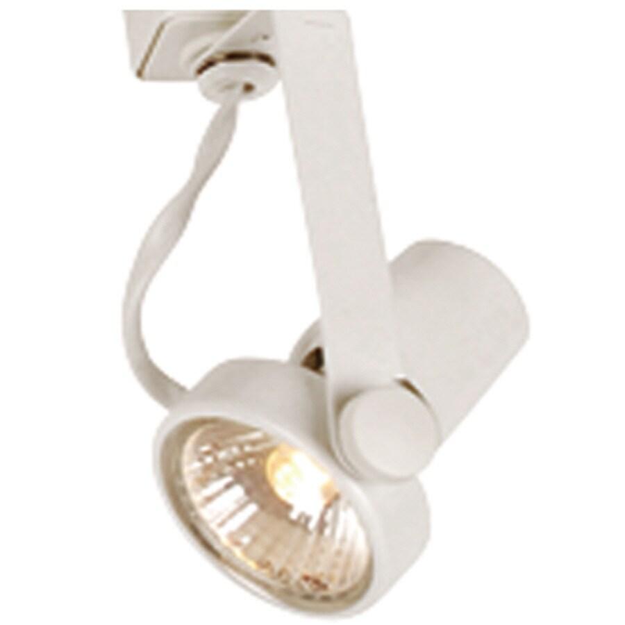 Portfolio 1-Light White Gimbal Linear Track Lighting Head