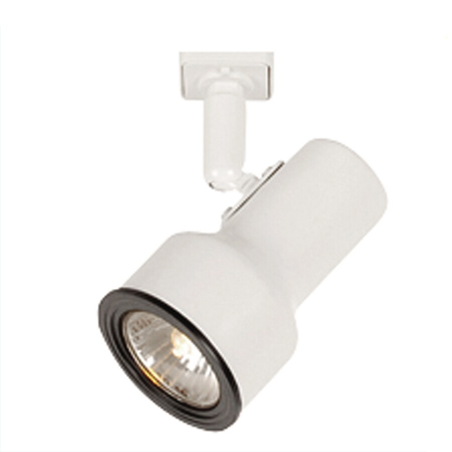 Portfolio 1-Light White Step Linear Track Lighting Head