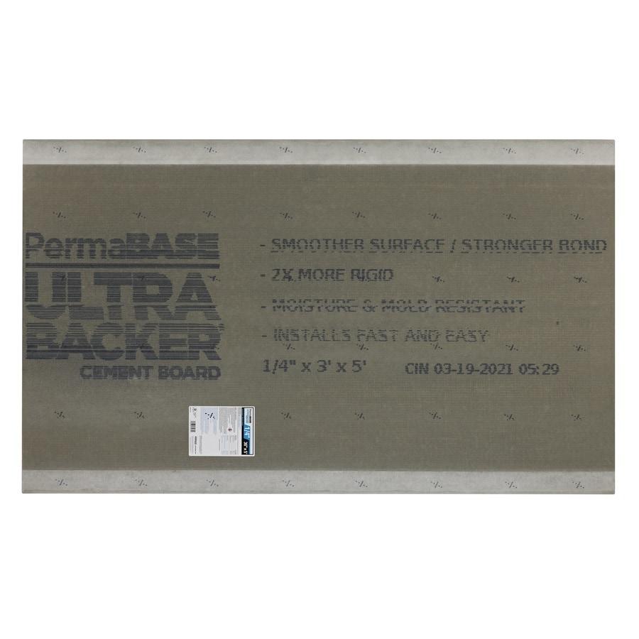PermaBase UltraBacker 0.25-in x 36-in x 60-in Cement Backer Board