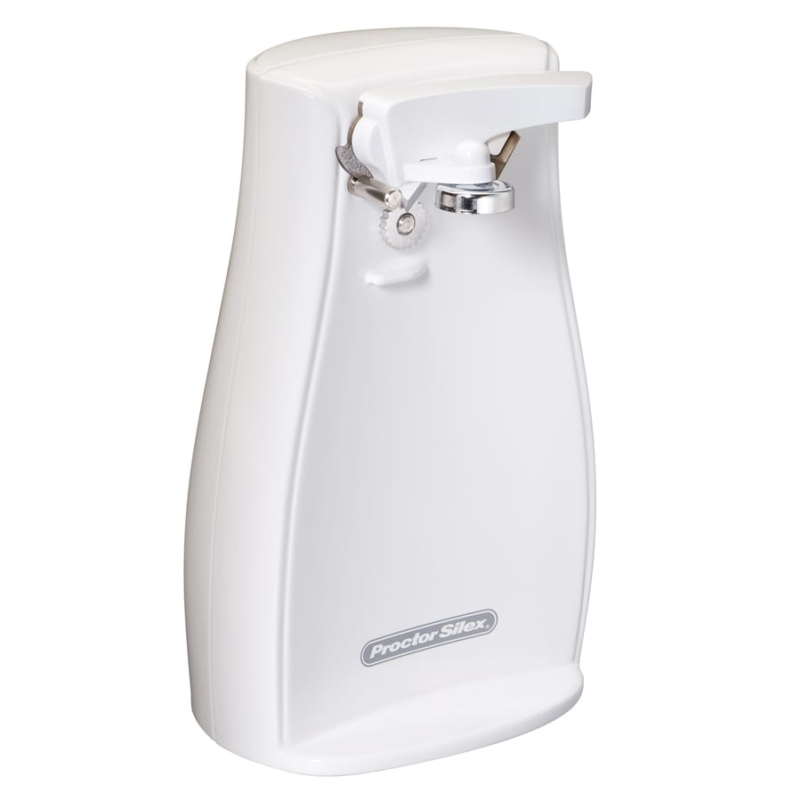 Proctor-Silex White Countertop Can Opener