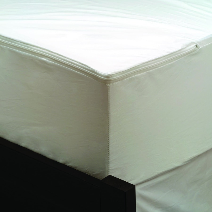 Shop aller ease polyester king hypoallergenic mattress or for Bed bug mattress and box spring protector