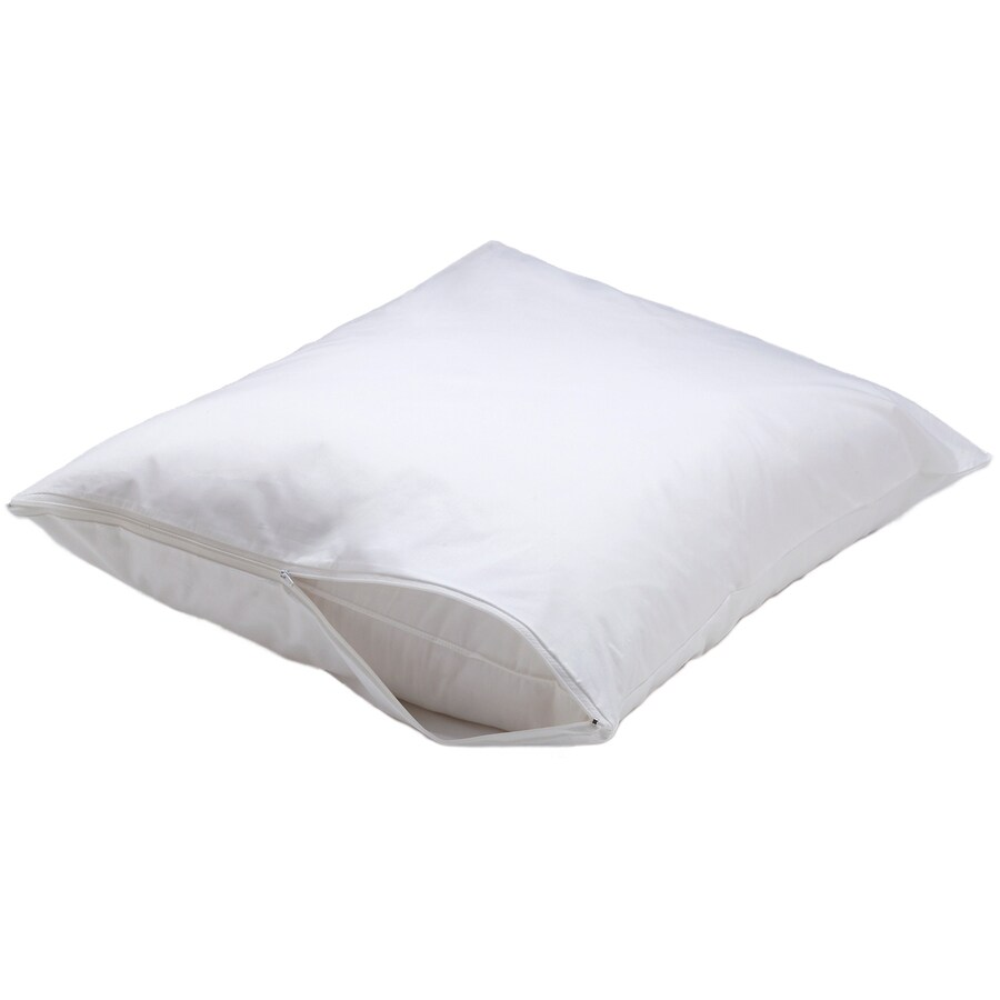 Aller-Ease 2-Piece 20-in W x 30-in L White Rectangular Indoor Decorative Pillows Covers