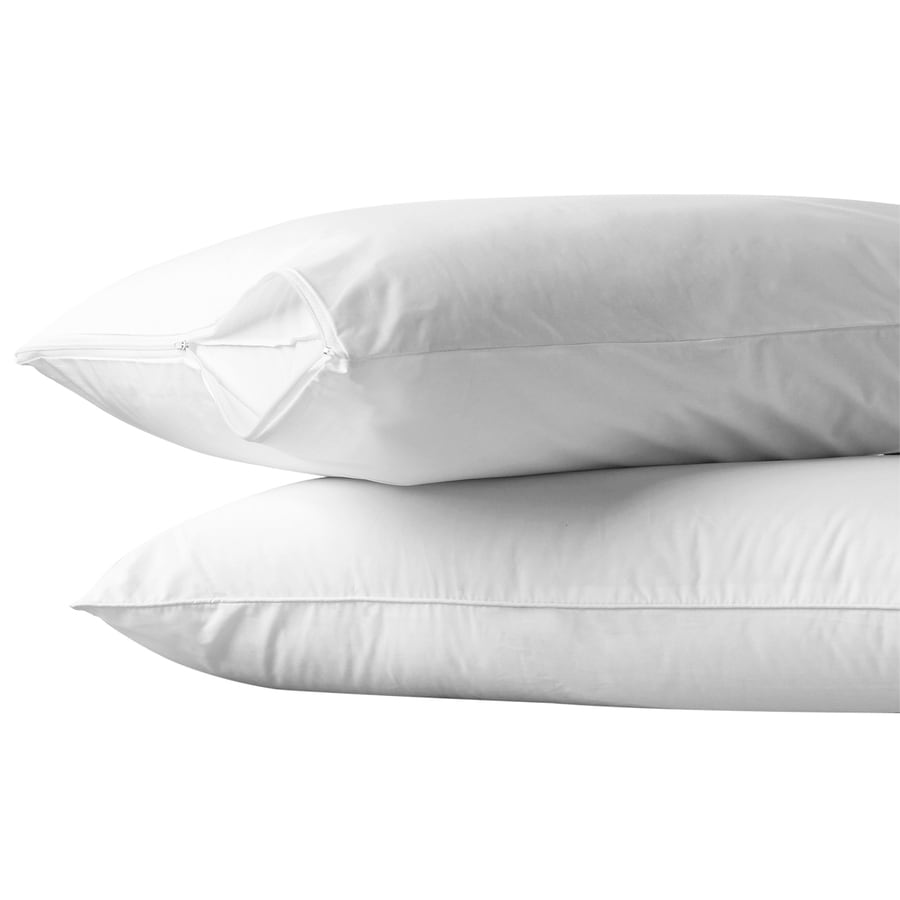 Aller-Ease 2-Piece 20-in W x 36-in L White Rectangular Indoor Decorative Pillows Covers