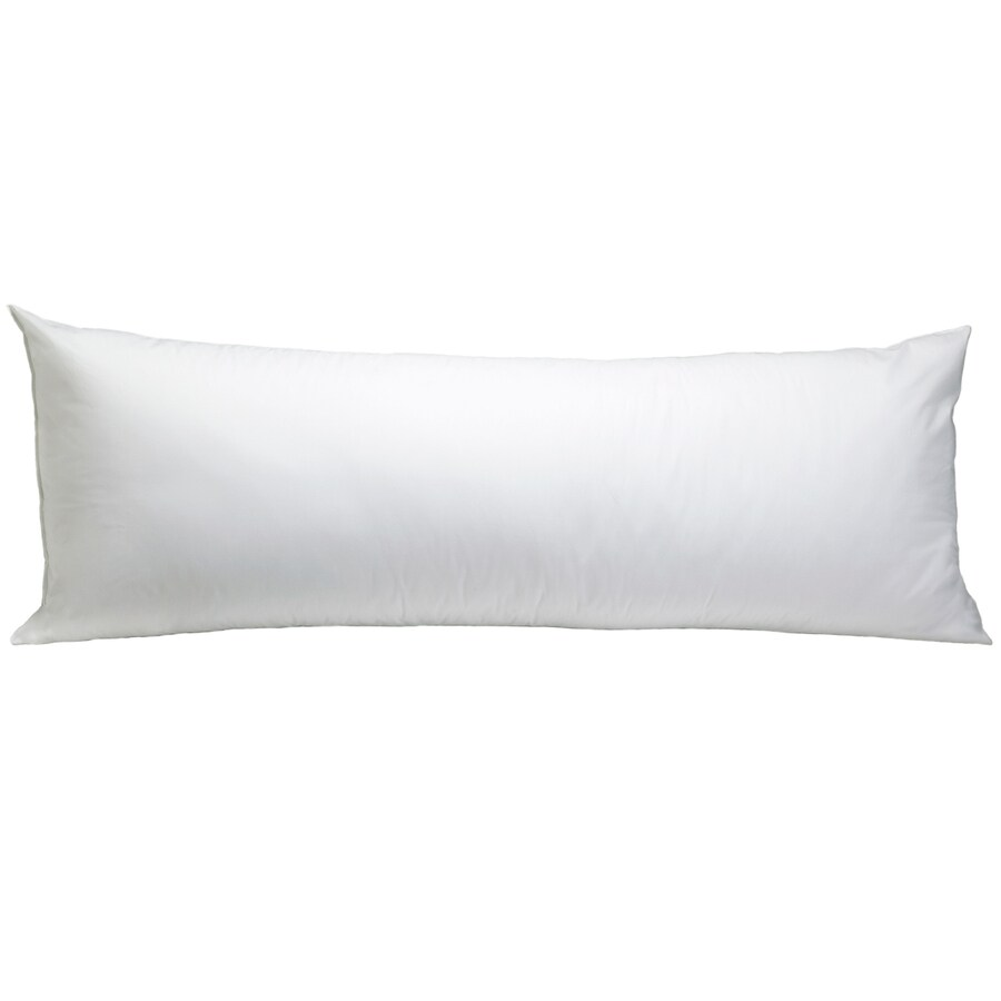 Aller-Ease 20-in W x 54-in L White Oblong Indoor Decorative Pillow