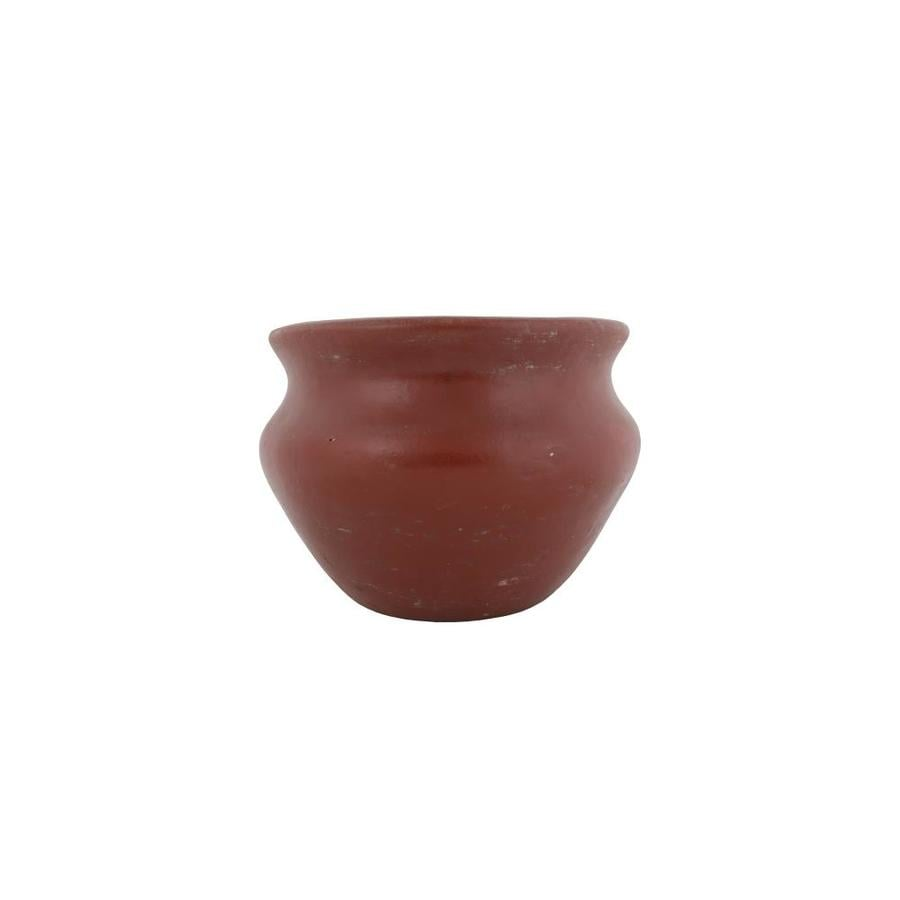 15.75-in x 12.5-in Antique Brown Clay Planter