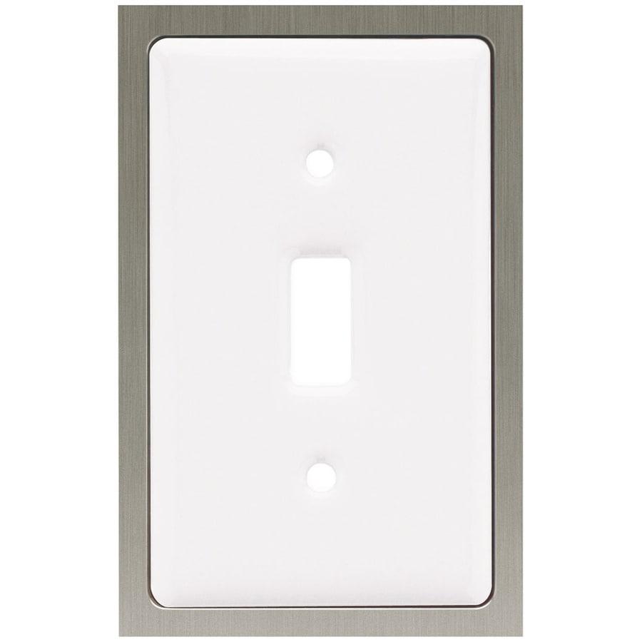 betsyfieldsdesign 1-Gang White Toggle Wall Plate
