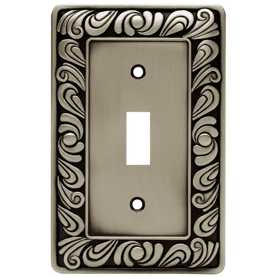 betsyfieldsdesign 1-Gang Brushed Satin Pewter Toggle Wall Plate