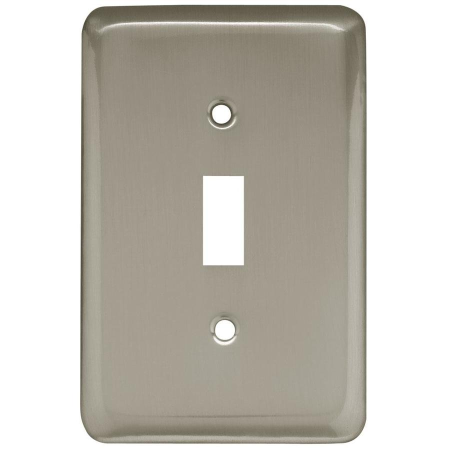 Style Selections 1-Gang Satin Nickel Standard Toggle Steel Wall Plate