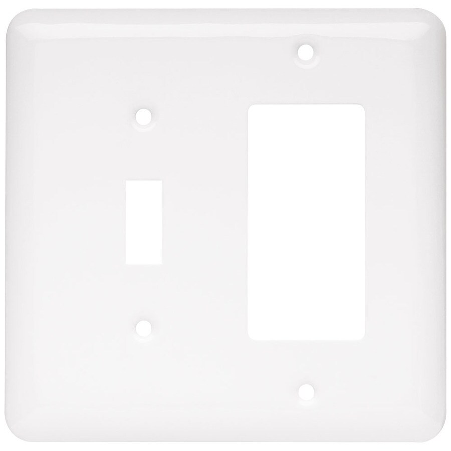 Brainerd 2-Gang White Decorator Wall Plate