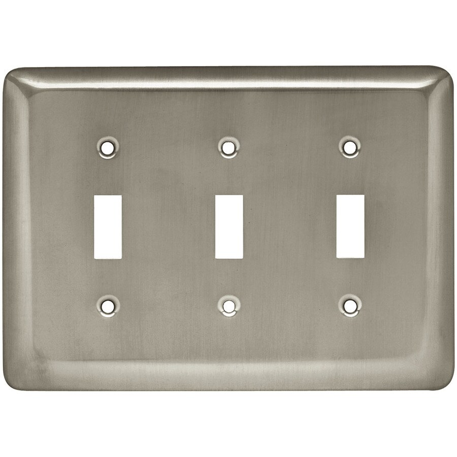 Style Selections 3-Gang Satin Nickel Toggle Wall Plate