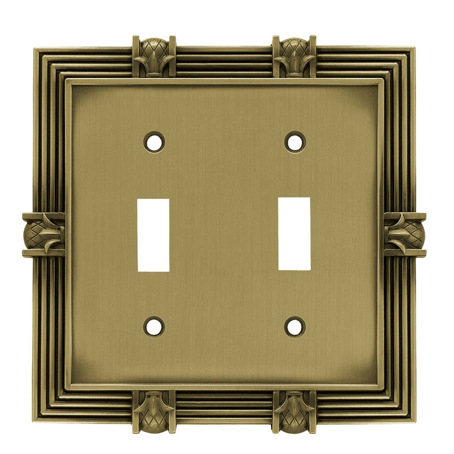 betsyfieldsdesign 2-Gang Tumbled Antique Brass Toggle Wall Plate