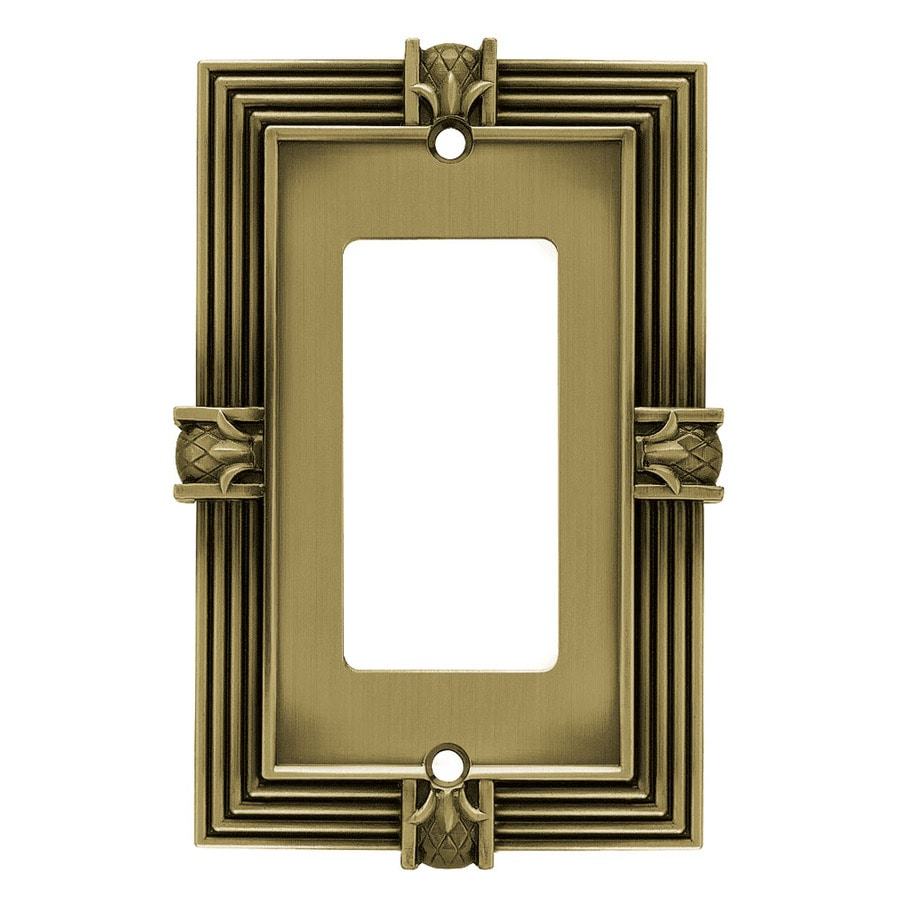 betsyfieldsdesign 1-Gang Tumbled Antique Brass Decorator Wall Plate