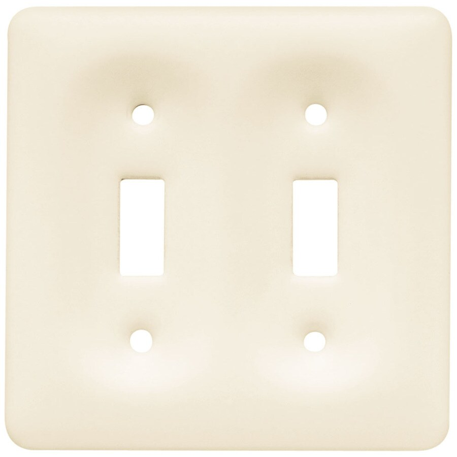 Brainerd 2-Gang Bisque Toggle Wall Plate