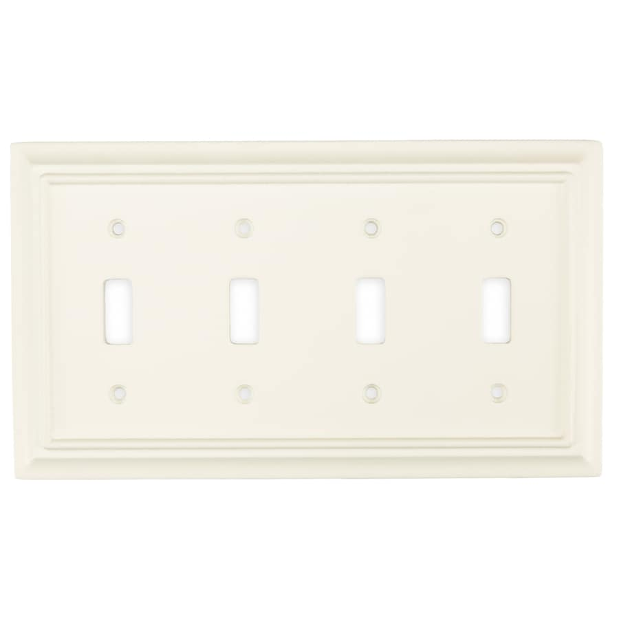Brainerd 4-Gang Cream Toggle Wall Plate
