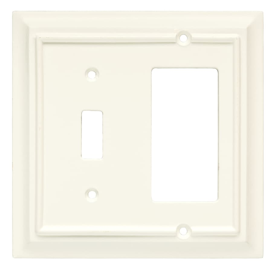Brainerd 2-Gang Cream Combination Wood Wall Plate