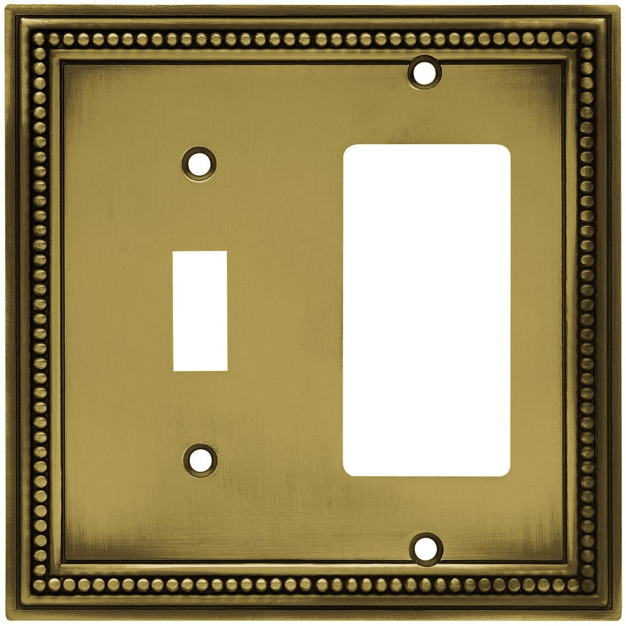 betsyfieldsdesign 2-Gang Antique Brass Decorator Wall Plate
