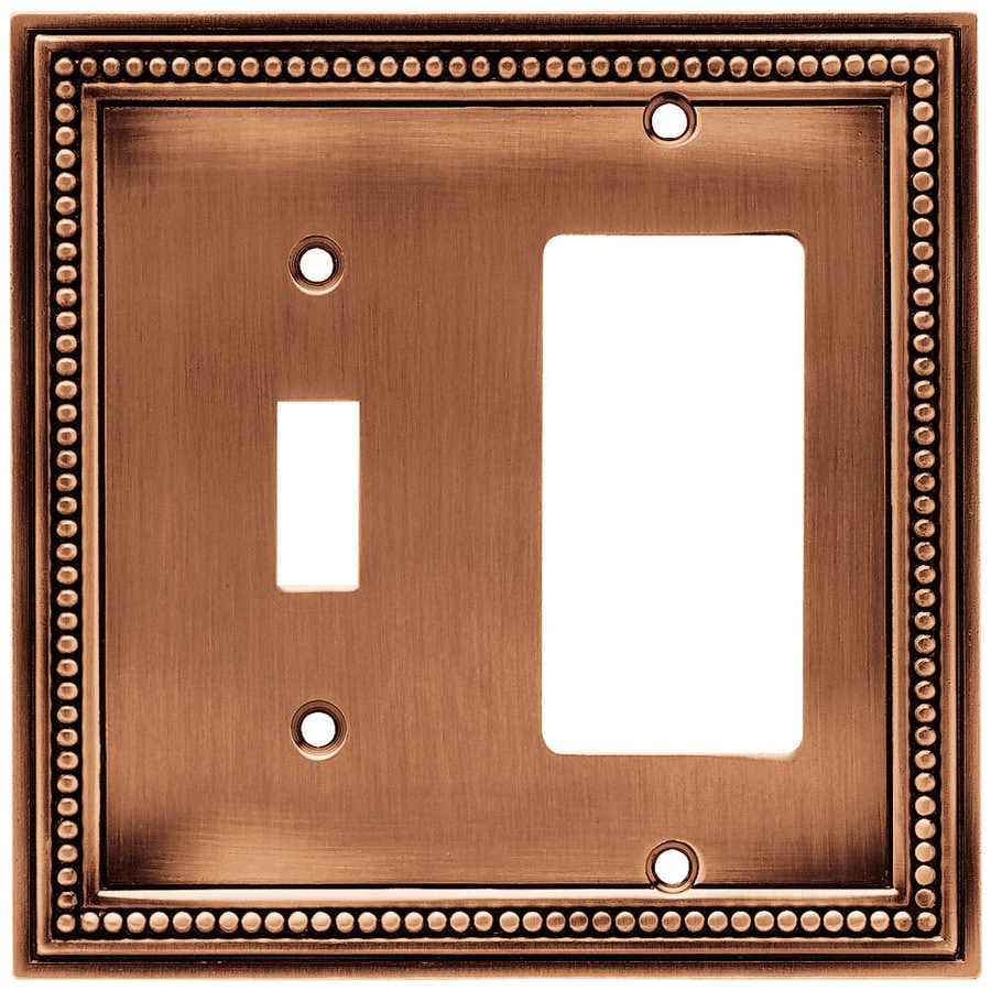 betsyfieldsdesign 2-Gang Aged Brushed Copper Decorator Wall Plate