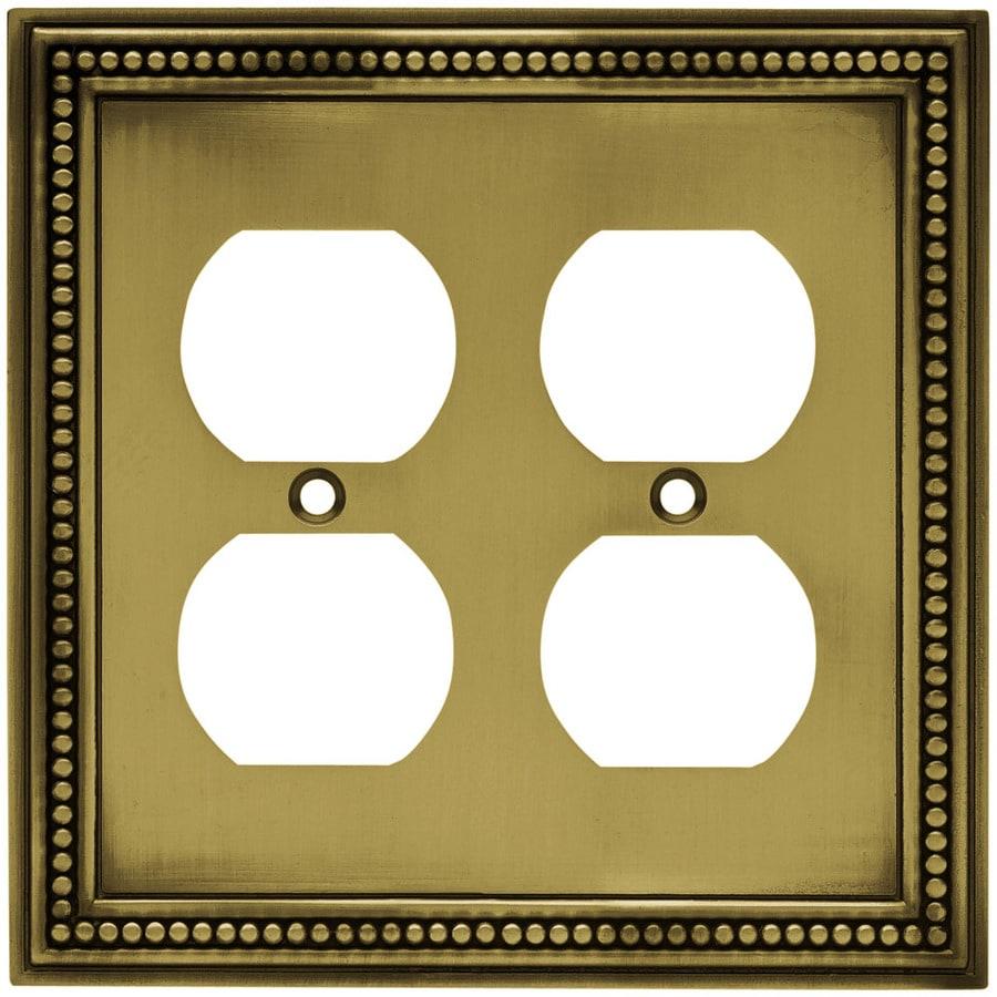 betsyfieldsdesign 2-Gang Antique Brass Round Wall Plate