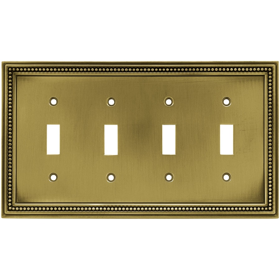 betsyfieldsdesign 4-Gang Antique Brass Toggle Wall Plate
