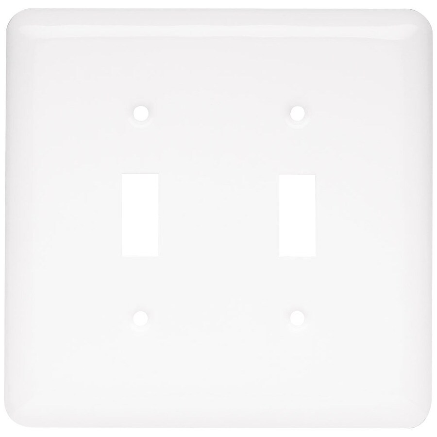 Style Selections 2-Gang White Toggle Wall Plate