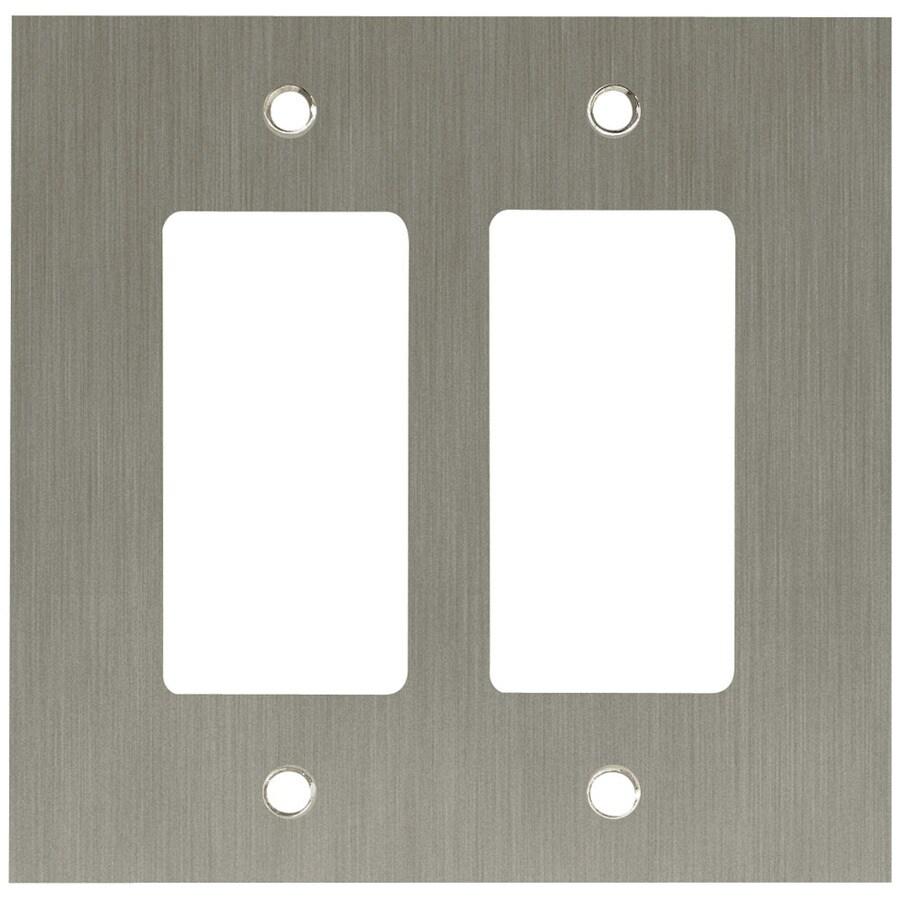 betsyfieldsdesign 2-Gang Brushed Nickel Plated Decorator Wall Plate