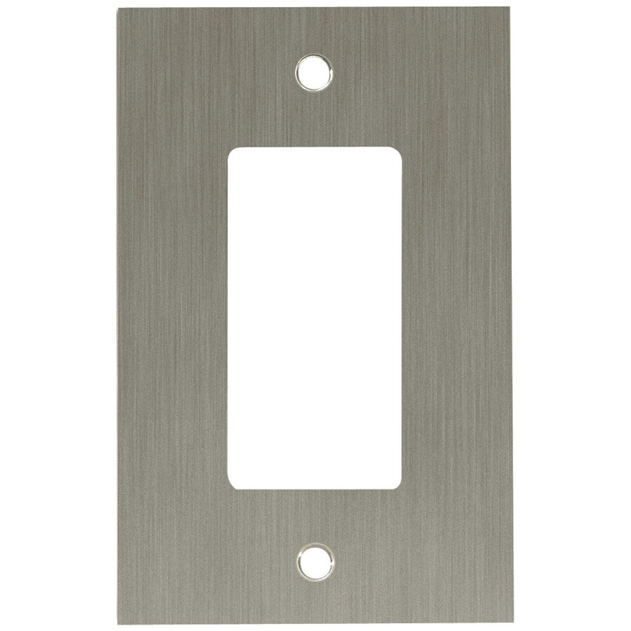 betsyfieldsdesign 1-Gang Brushed Nickel Plated Decorator Wall Plate