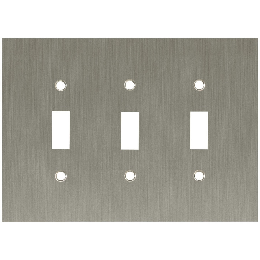 betsyfieldsdesign 3-Gang Brushed Nickel Plated Toggle Wall Plate