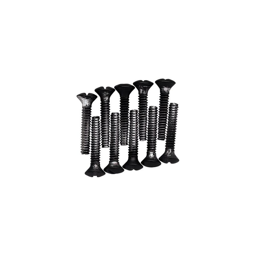 Brainerd 10-Pack #6 to 32 x 0.75-in Black Wall Plate Screws