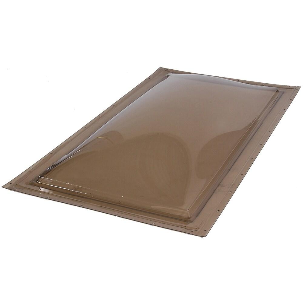 Sun-Tek 22.5 x 22.5 Sun-Tek Fixed Self Flashing Deck Mount Skylight with Bronze over Clear Polycarbonate Double Dome