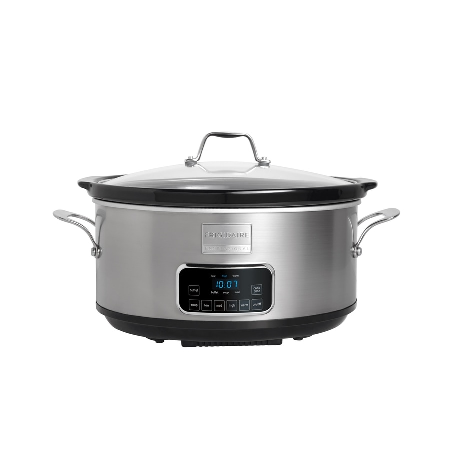 Frigidaire 7-Quart Stainless Steel Oval Slow Cooker