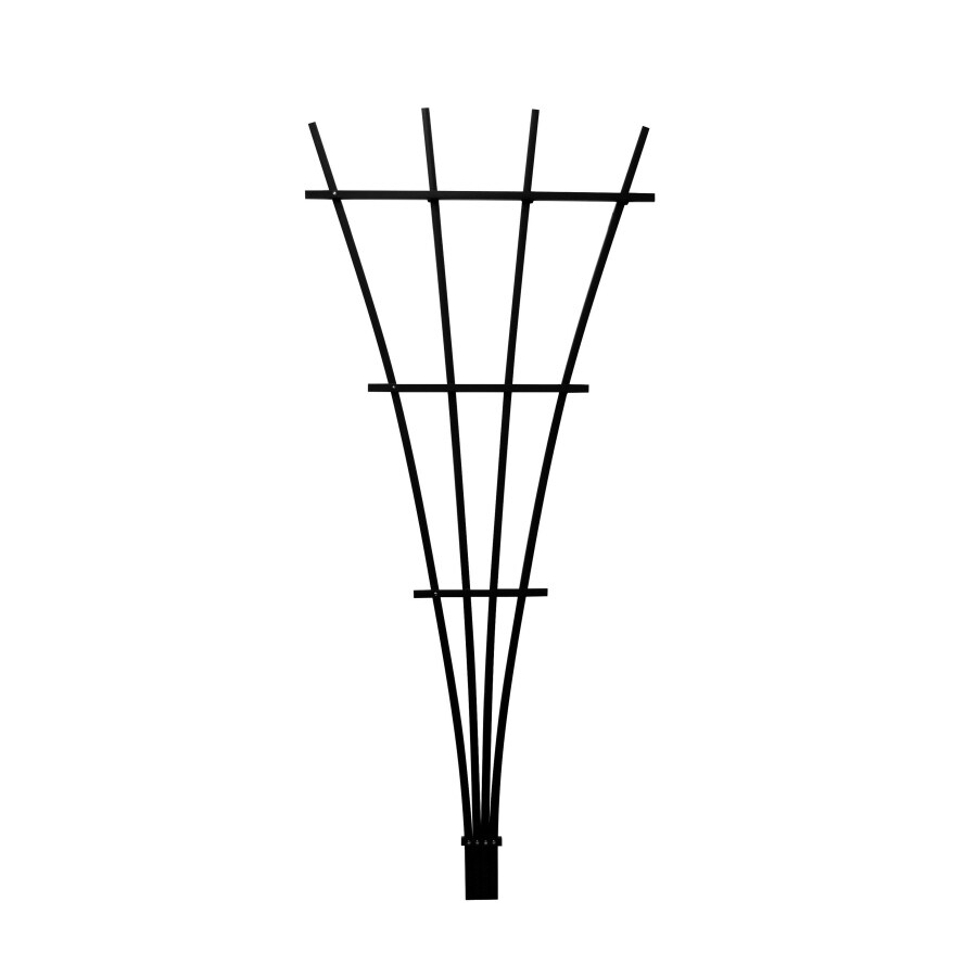 Matthews Four Seasons 5.25-in W x 48.-in H Black Fan Garden Trellis