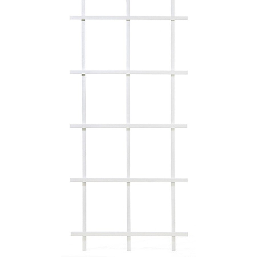 Matthews Four Seasons 3.75-in W x 78-in H White Ladder Garden Trellis