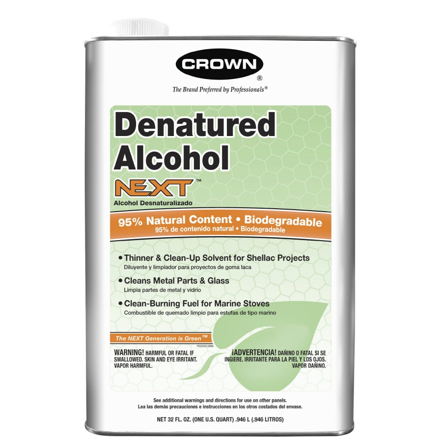 Crown 1-Quart Slow to Dissolve Denatured Alcohol