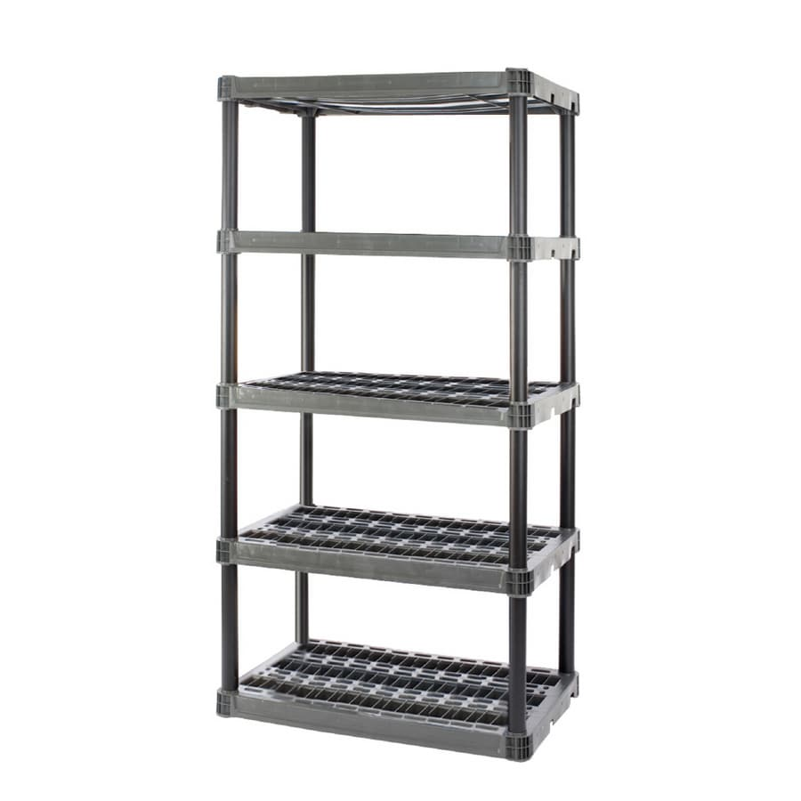 Plano 73-3/4-in H x 36-in W x 24-in D 5-Tier Plastic Freestanding Shelving Unit