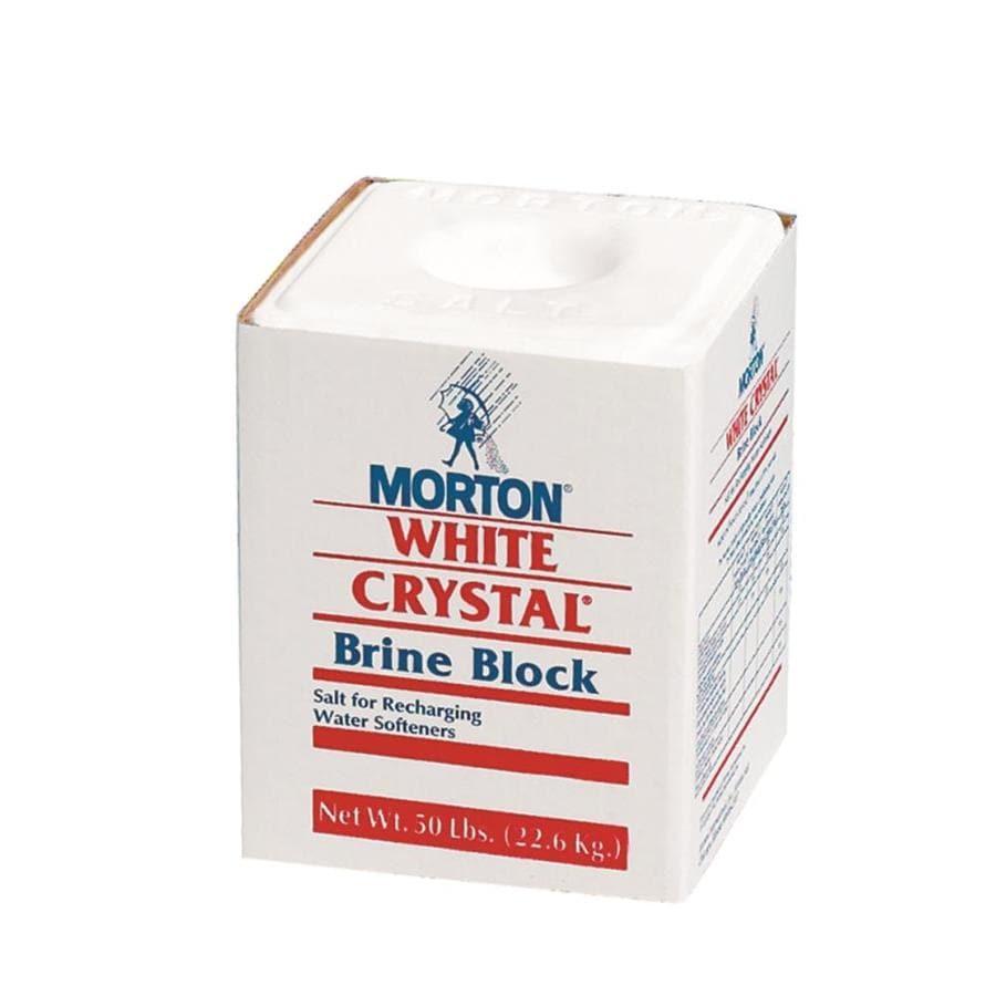 Morton 50-Lb. White Crystal Brine Block