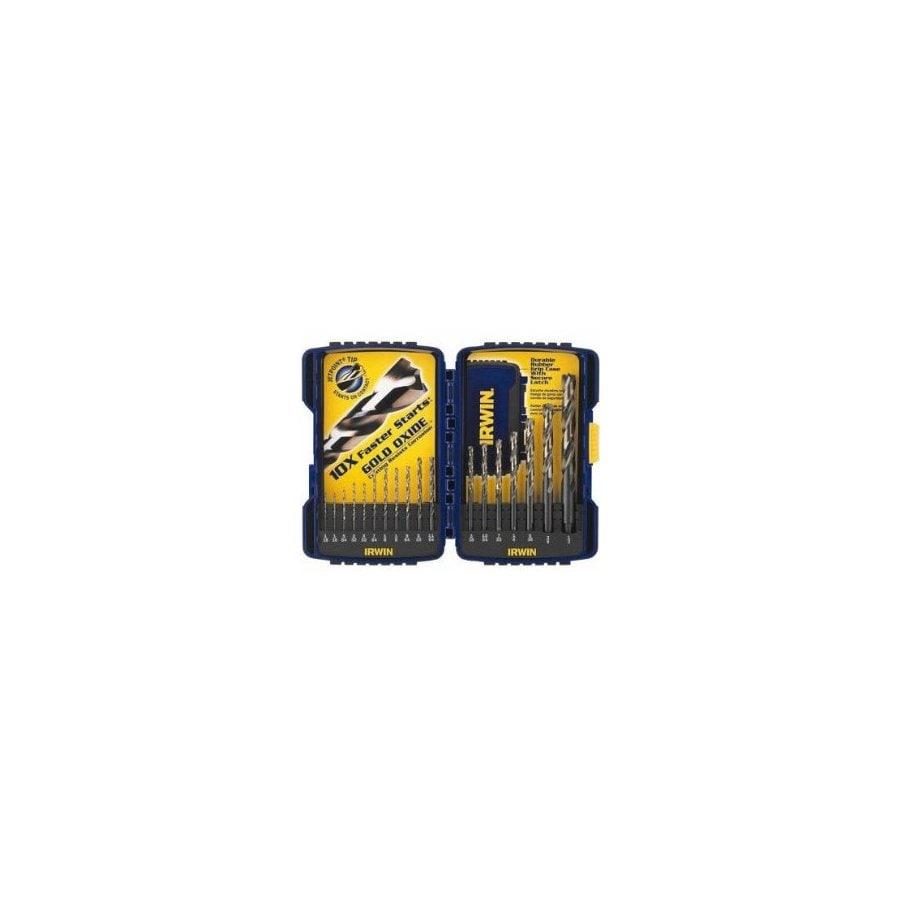 IRWIN 18-Pack Gold Oxide Twist Drill Bit Set